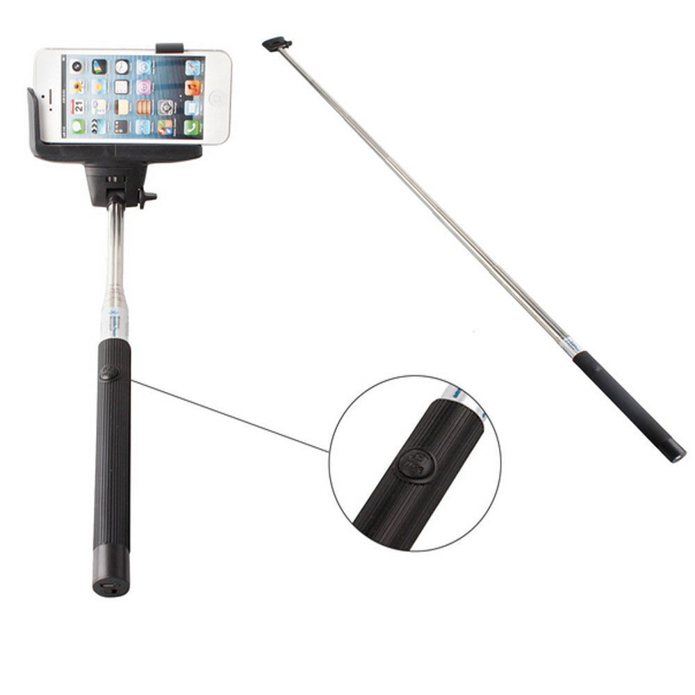 bluetooth selfie stick black. Black Bedroom Furniture Sets. Home Design Ideas